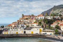 Camara在丰沙尔,马德拉岛海岛附近的de罗伯斯 免版税库存图片
