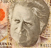 Camara Cascudo. On 50000 Cruzerios 1992 Banknote from Brazil. Anthropologist, folklorist, historian, lawyer, journalist and lexicographer Royalty Free Stock Images