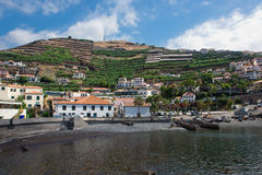 camara de罗伯斯,马德拉岛,葡萄牙捕鱼港口  图库摄影