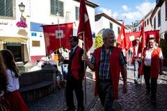 Camara de Lobos è un paesino di pescatori vicino alla città di Funchal ed ha alcune di più alte scogliere nel mondo Fotografie Stock Libere da Diritti
