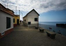 Camara de Lobos embankment Funchal Ilha de Madeira portugal imagem de stock royalty free