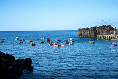 Camara de Lobos is a fishing village near the city of Funchal and has some of the highest cliffs in the world. The location of the modern town is believed to be royalty free stock image