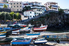 Camara de Lobos is a fishing village near the city of Funchal and has some of the highest cliffs in the world. The location of the modern town is believed to be stock photo