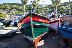 Camara de Lobos is a fishing village near the city of Funchal and has some of the highest cliffs in the world Stock Images
