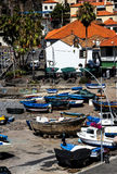Camara de Lobos is a fishing village near the city of Funchal and has some of the highest cliffs in the world Royalty Free Stock Images