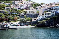 Camara de Lobos is a fishing village near the city of Funchal and has some of the highest cliffs in the world Stock Photo