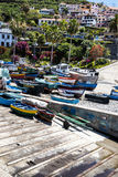 Camara de Lobos is a fishing village near the city of Funchal and has some of the highest cliffs in the world Stock Photos