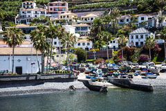 Camara de Lobos is a fishing village near the city of Funchal and has some of the highest cliffs in the world Stock Image
