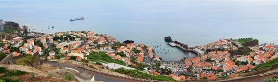 Camara de Lobos-Hafen, Madeira Stockfotografie