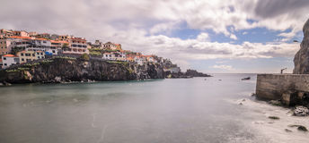 Camara De Lobos Harbour photo libre de droits