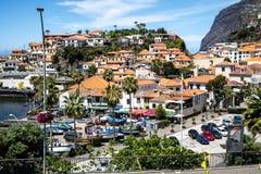 Camara De Lobos jest wioską rybacką blisko miasta Funchal i niektóre wysokie falezy w świacie Zdjęcia Stock
