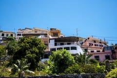 Camara De Lobos jest wioską rybacką blisko miasta Funchal i niektóre wysokie falezy w świacie Fotografia Royalty Free