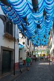 CAMARA DE LOBOS, MADEIRA - SEPTEMBER 9, 2017: Street view of Cam Royalty Free Stock Photo
