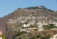 Camara de Lobos - paesino di pescatori tradizionale, situato cinque chilometri da Funchal sul Madera Fotografie Stock Libere da Diritti