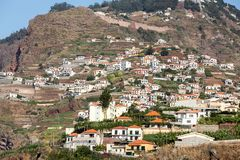 Camara de Lobos - paesino di pescatori tradizionale, situato cinque chilometri da Funchal sul Madera Immagini Stock Libere da Diritti