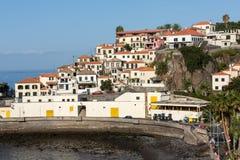 Camara de Lobos - paesino di pescatori tradizionale, situato cinque chilometri da Funchal sul Madera Fotografia Stock Libera da Diritti
