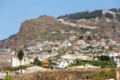 Camara de Lobos - pueblo pesquero tradicional, situado cinco kilómetros de Funchal en Madeira Imagenes de archivo