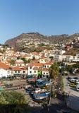 Camara de Lobos - traditional fishing village, situated five kilometres from Funchal on Madeira. Royalty Free Stock Photos