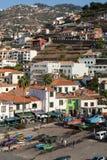Camara de Lobos - traditional fishing village, situated five kilometres from Funchal on Madeira Royalty Free Stock Photos