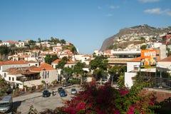Camara de Lobos - traditioneel die visserijdorp, vijf kilometers van Funchal op Madera wordt gesitueerd Royalty-vrije Stock Foto's