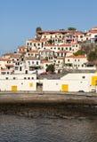Camara de Lobos - traditioneel die visserijdorp, vijf kilometers van Funchal op Madera wordt gesitueerd Stock Foto