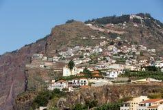 Camara de Lobos - traditioneel die visserijdorp, vijf kilometers van Funchal op Madera wordt gesitueerd Royalty-vrije Stock Afbeeldingen