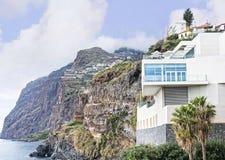 Camara de Lobos un paesino di pescatori vicino alla città di Funchal ed ha alcune di più alte scogliere nel mondo Immagine Stock Libera da Diritti