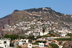 Camara de Lobos - village de pêche traditionnel, situé cinq kilomètres de Funchal sur la Madère Image stock
