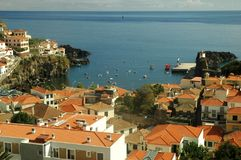 Camara dos lobos, harbor in Madeira Stock Photography