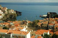 Camara dos lobos, harbor in Madeira. Harbor in the island of Madeira Stock Photography