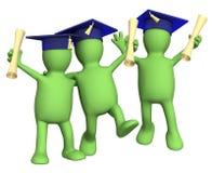 Camarades de classe heureux d'amis avec des diplômes Photos libres de droits