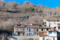 Camarda wioska, Gran Sasso Abruzzo, Włochy Zdjęcia Royalty Free