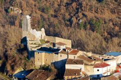 Camarda wioska, Gran Sasso Abruzzo, Włochy Fotografia Stock