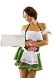Camarera asiática de Oktoberfest Imagen de archivo libre de regalías
