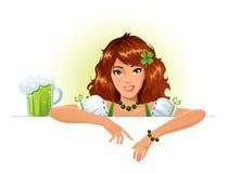 Camarera del día del St. Patrick ilustración del vector