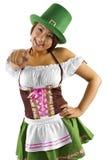 Camarera del día del St Patricks Fotografía de archivo libre de regalías