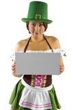 Camarera del día del St Patricks Foto de archivo libre de regalías