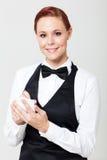 Camarera que toma orden Imagen de archivo