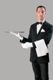 Camarero arrogante Imagen de archivo libre de regalías