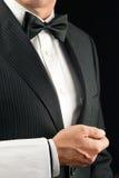 Camarero de cena fino, vista lateral Imagen de archivo