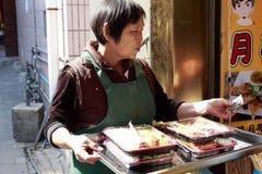 Camarero de los alimentos de preparación rápida fotografía de archivo libre de regalías