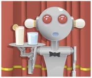 Camarero del robot Fotos de archivo libres de regalías