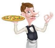 Camarero Perfect Sign de la pizza Imagen de archivo
