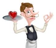 Camarero Perfect Sign del corazón Fotografía de archivo libre de regalías
