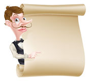Camarero Scroll Imágenes de archivo libres de regalías