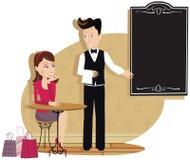 Camarero y cliente Ilustración del Vector