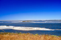 camargue άμμος λιμνών νησιών Στοκ Εικόνες