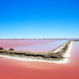 Camargue, Giraud pink salt flats. Provence, France Stock Photos