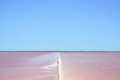 Camargue, Giraud pink salt flats. Rhone, Provence Royalty Free Stock Photos