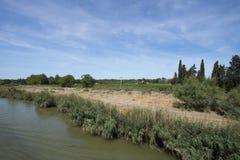 Camargue landscape at Aigues Mortes, France Stock Images